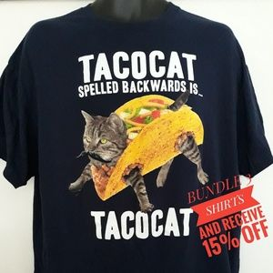 Other - Taco cat novelty tee